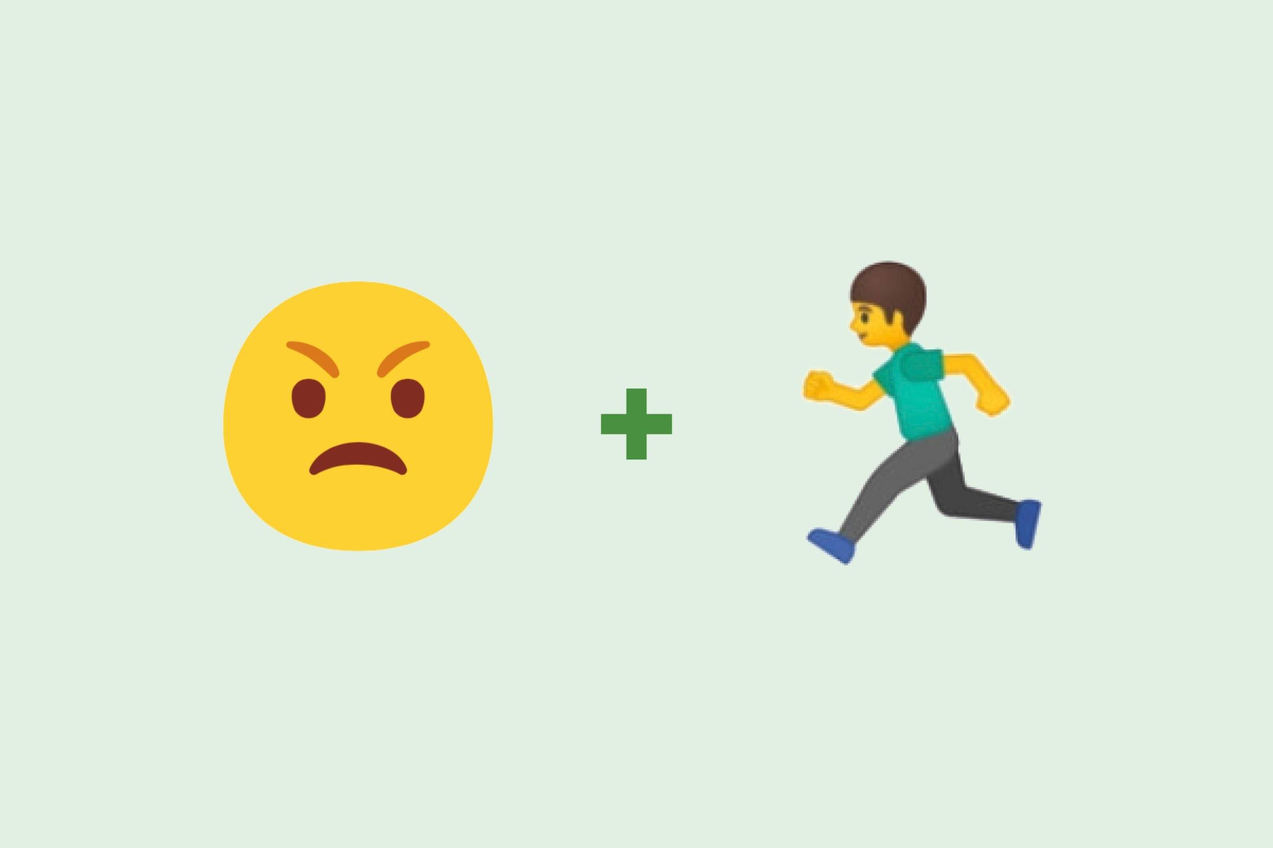 Angry emoji + man emoji