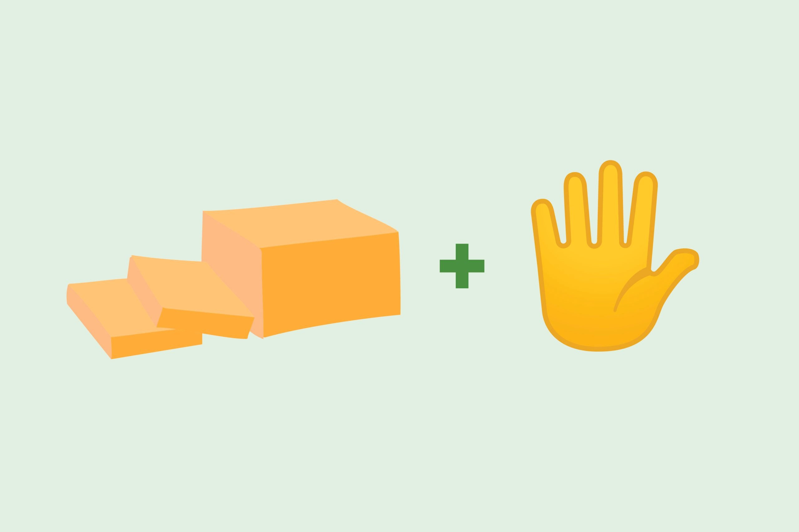 Butter emoji + hand emoji