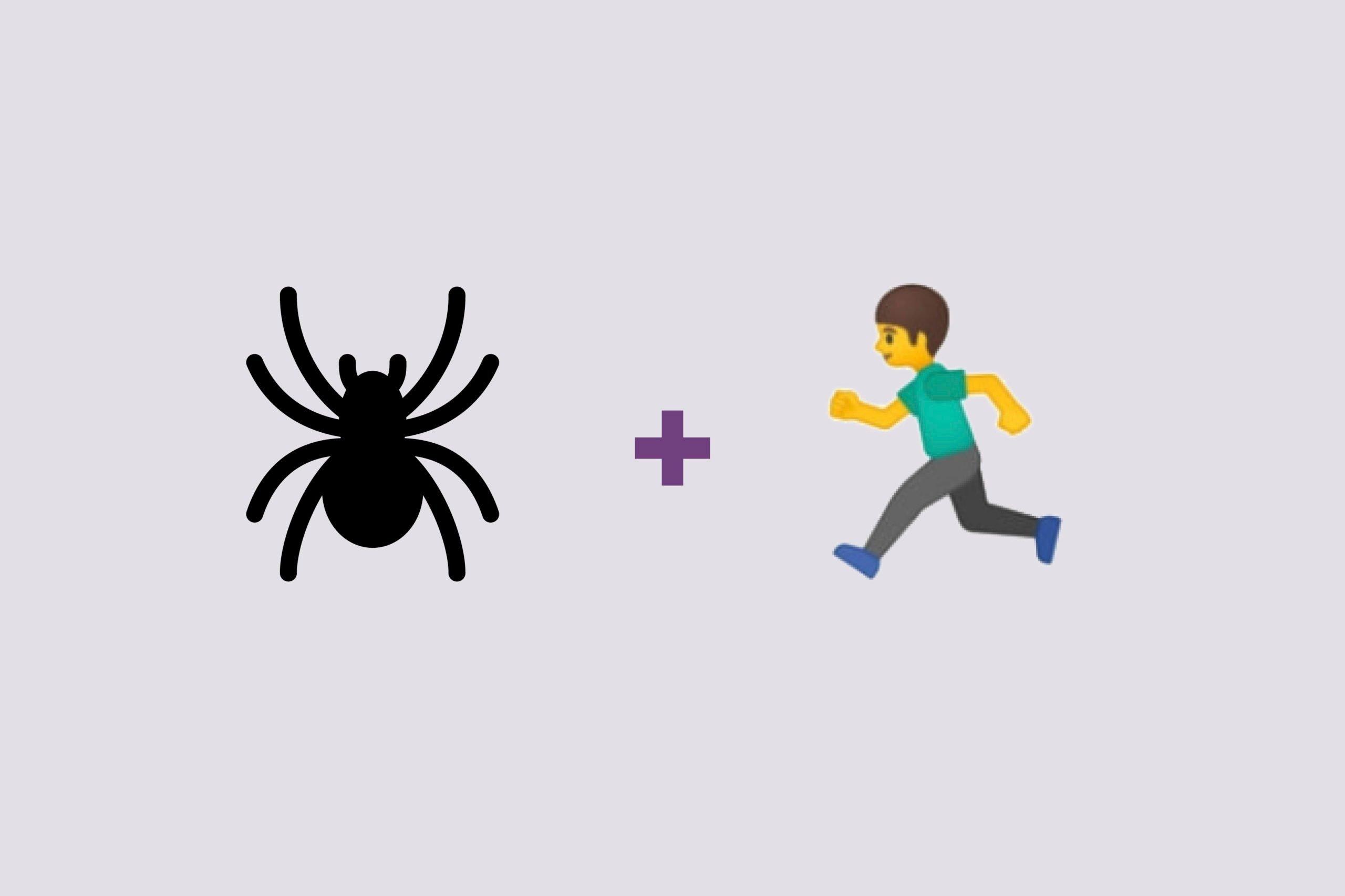 Spider emoji + man emoji