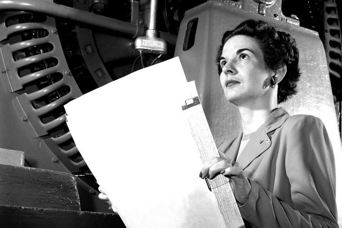 Kitty Joyner at Langley Research Center, Hampton, Virginia, 1952.