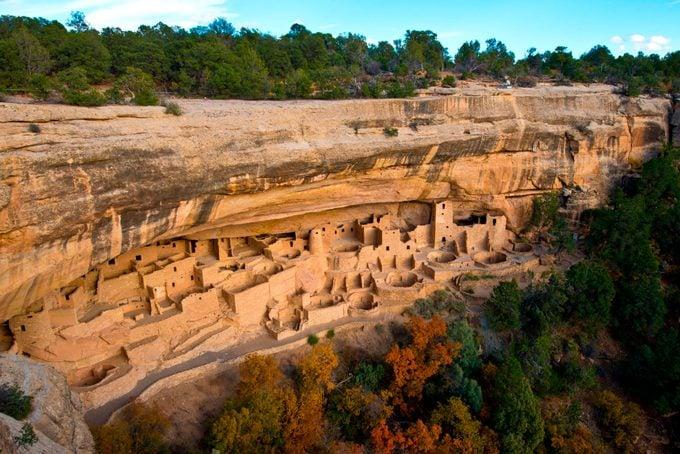 cliff dwellings in Mesa Verde National Park, Cortez, Colorado