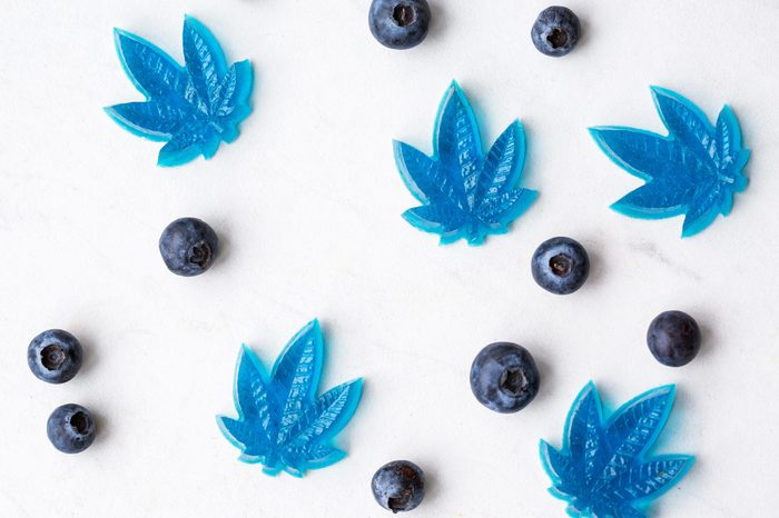 Cannabis CBD infused blueberry edibles