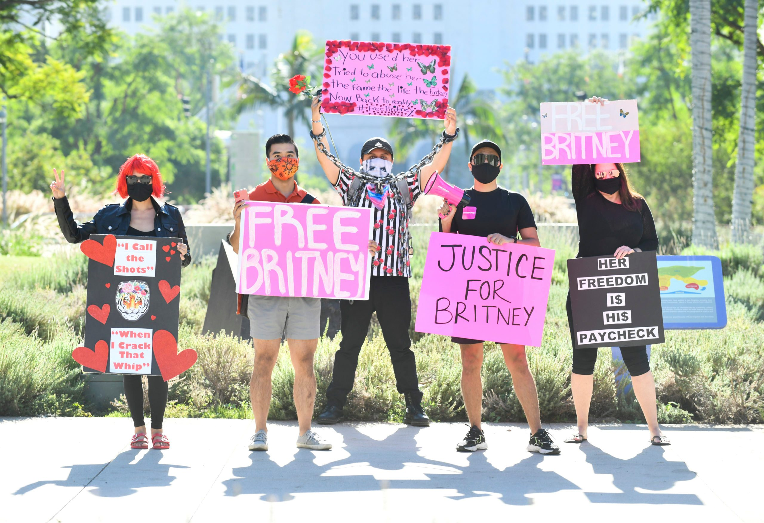 #FreeBritney Protest Outside Courthouse In Los Angeles