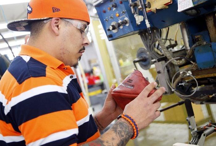 Official Super Bowl XLVIII Footballs Manufactured at Wilson Football Factory