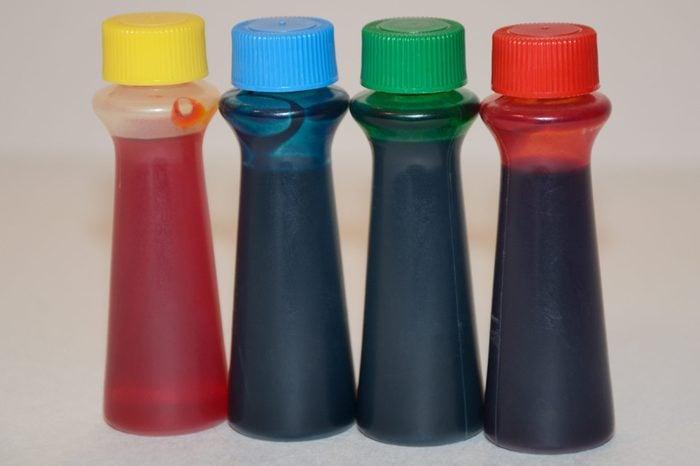 Food Coloring in plastic bottles