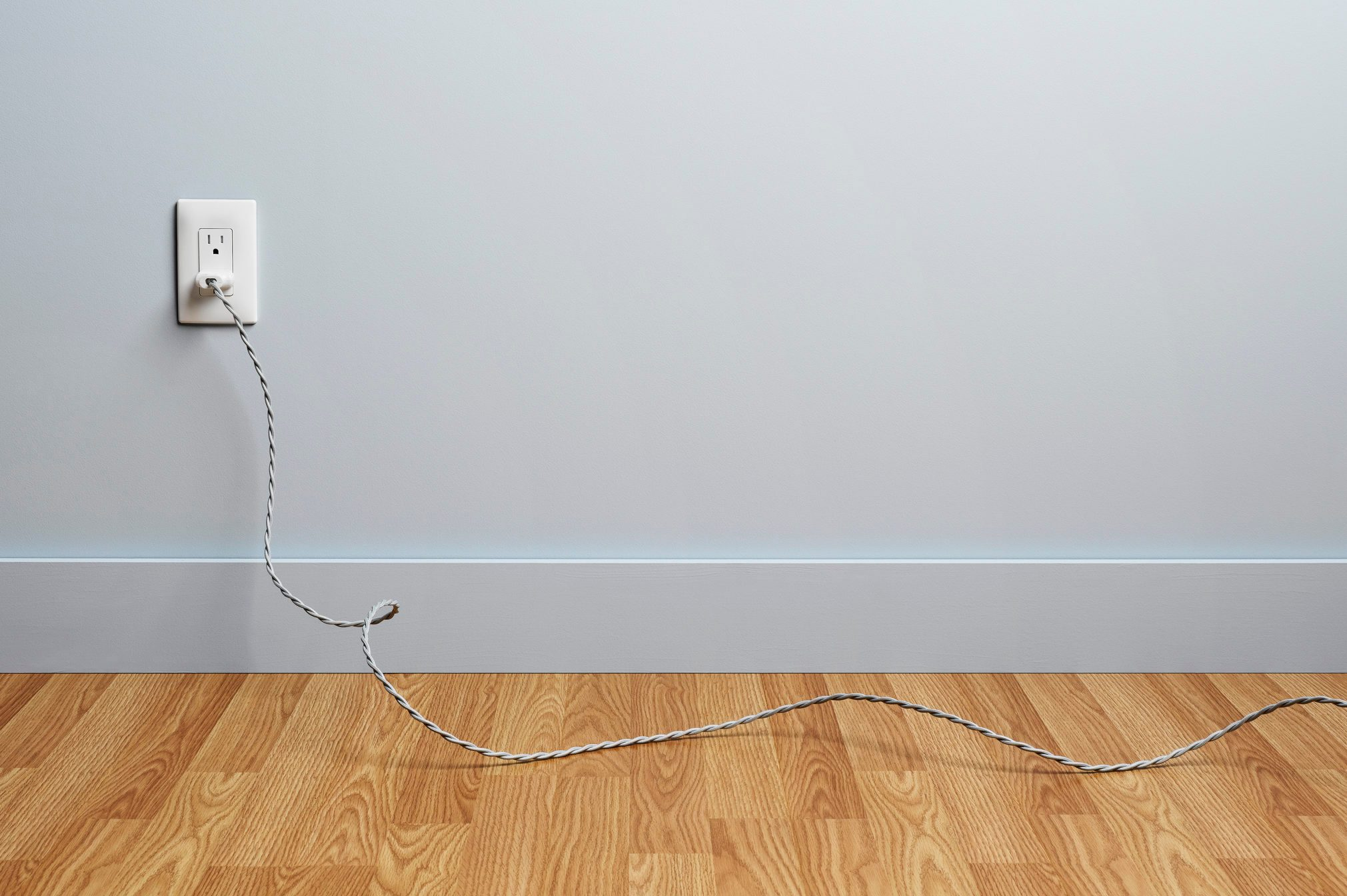 Cord Plugged into Wall Outlet