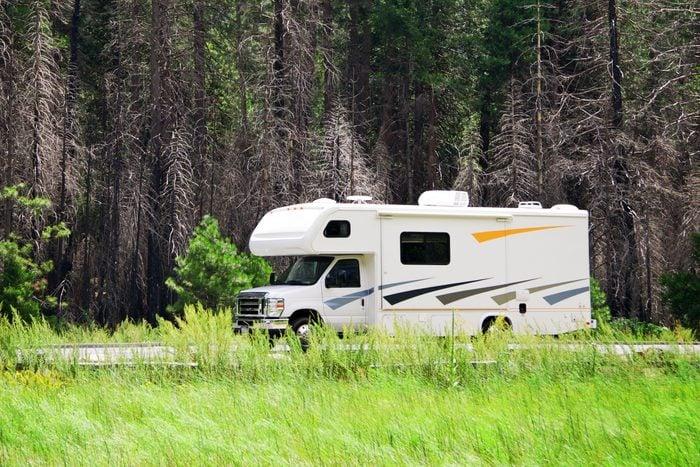 RV touring in Yosemite National Park