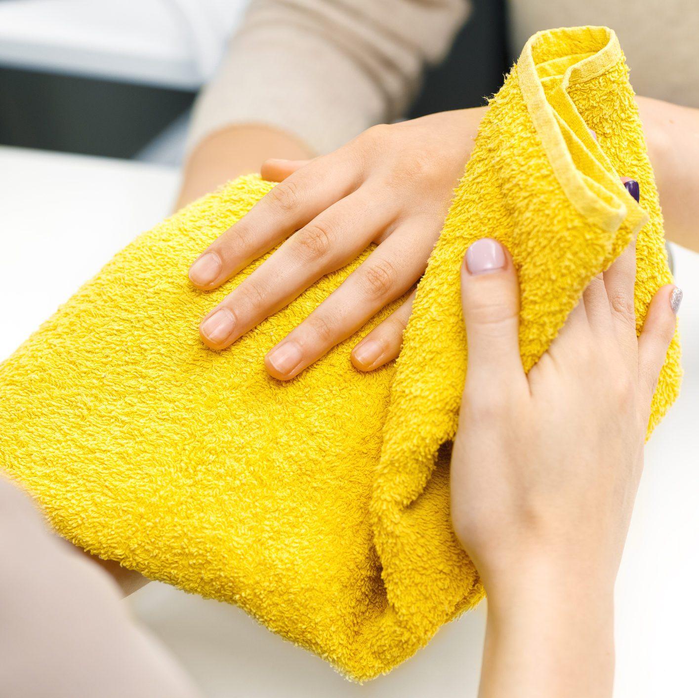 Manicure at the salon