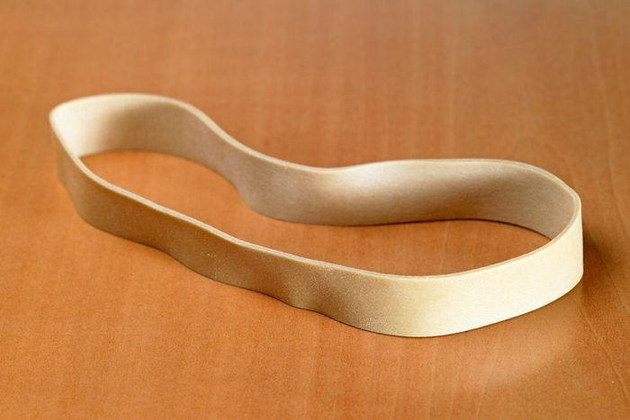 Close-up of rubber band