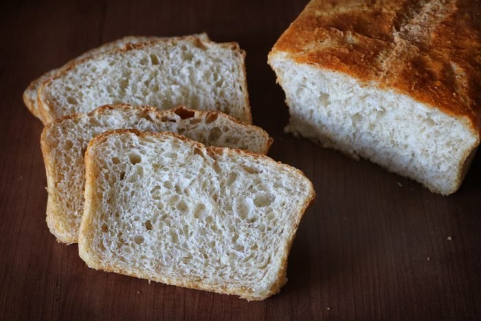 Homemade French Bread. Sliced