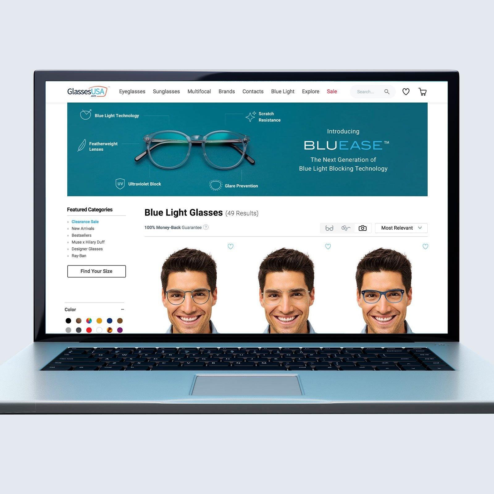 GlassesUSA Blue Blocking Glasses