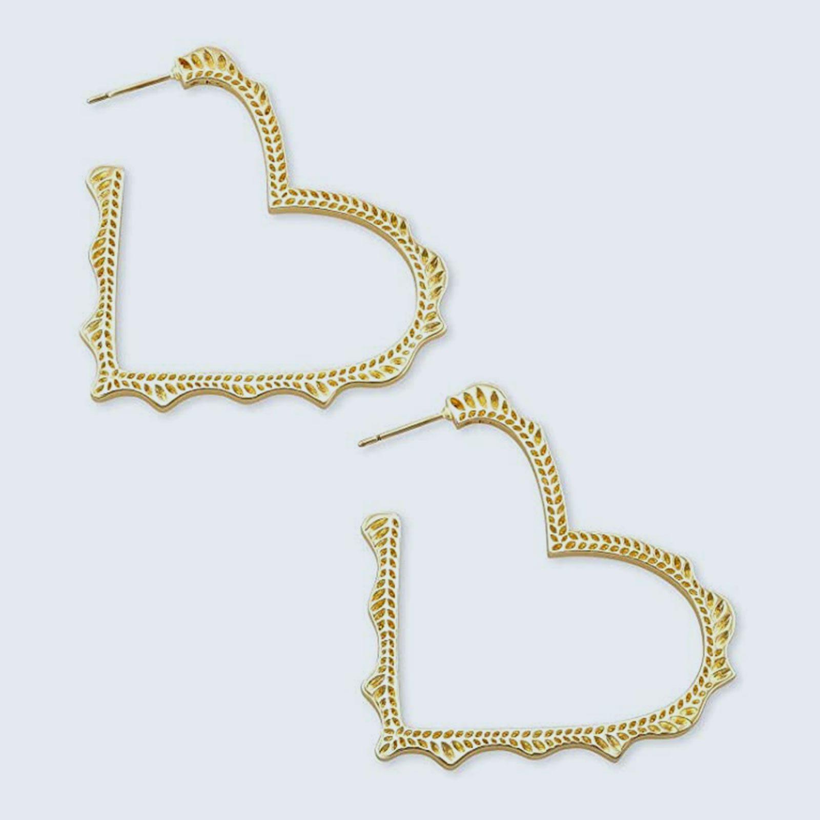 For the jewelry lover: Kendra Scott Sophee Heart Hoop Earrings