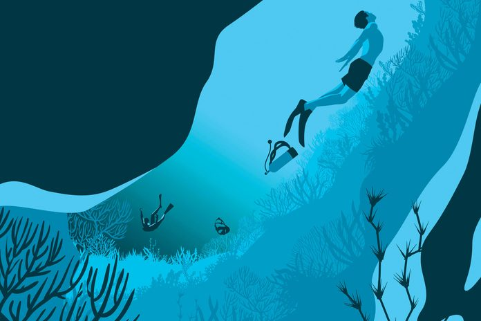illustration of divers