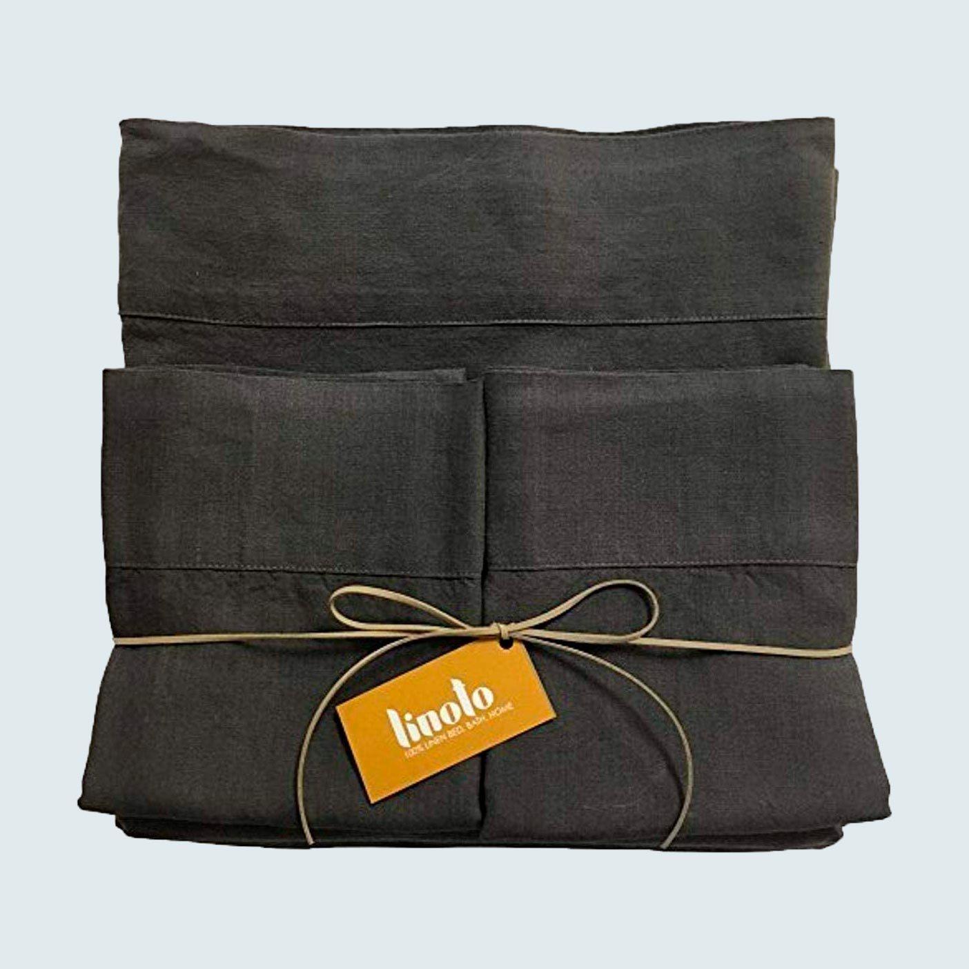 Linoto Pure Belgian Italian Flax Linen Bed Sheet Set
