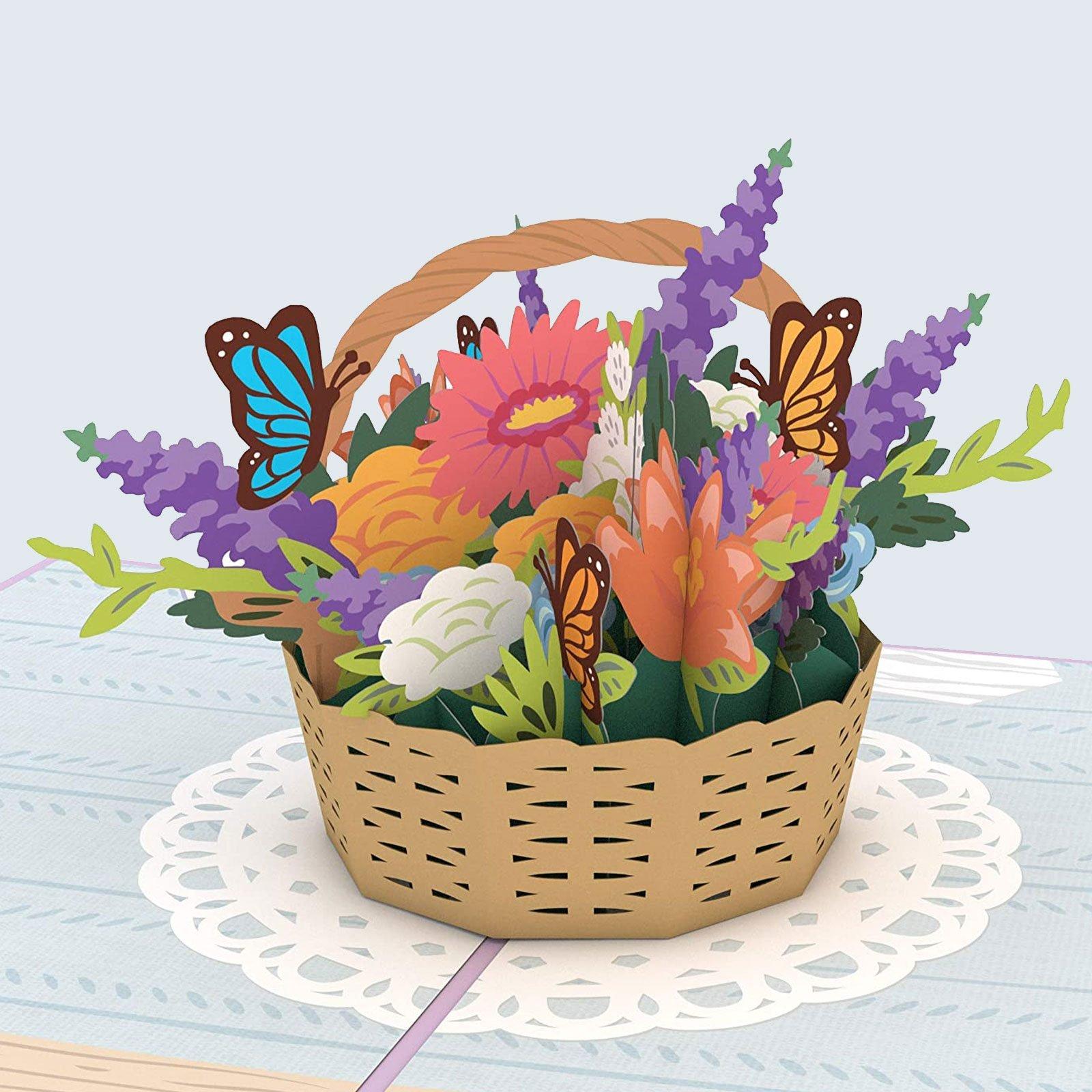 For greeting card savers: Lovepop Flower Basket Pop Up Card