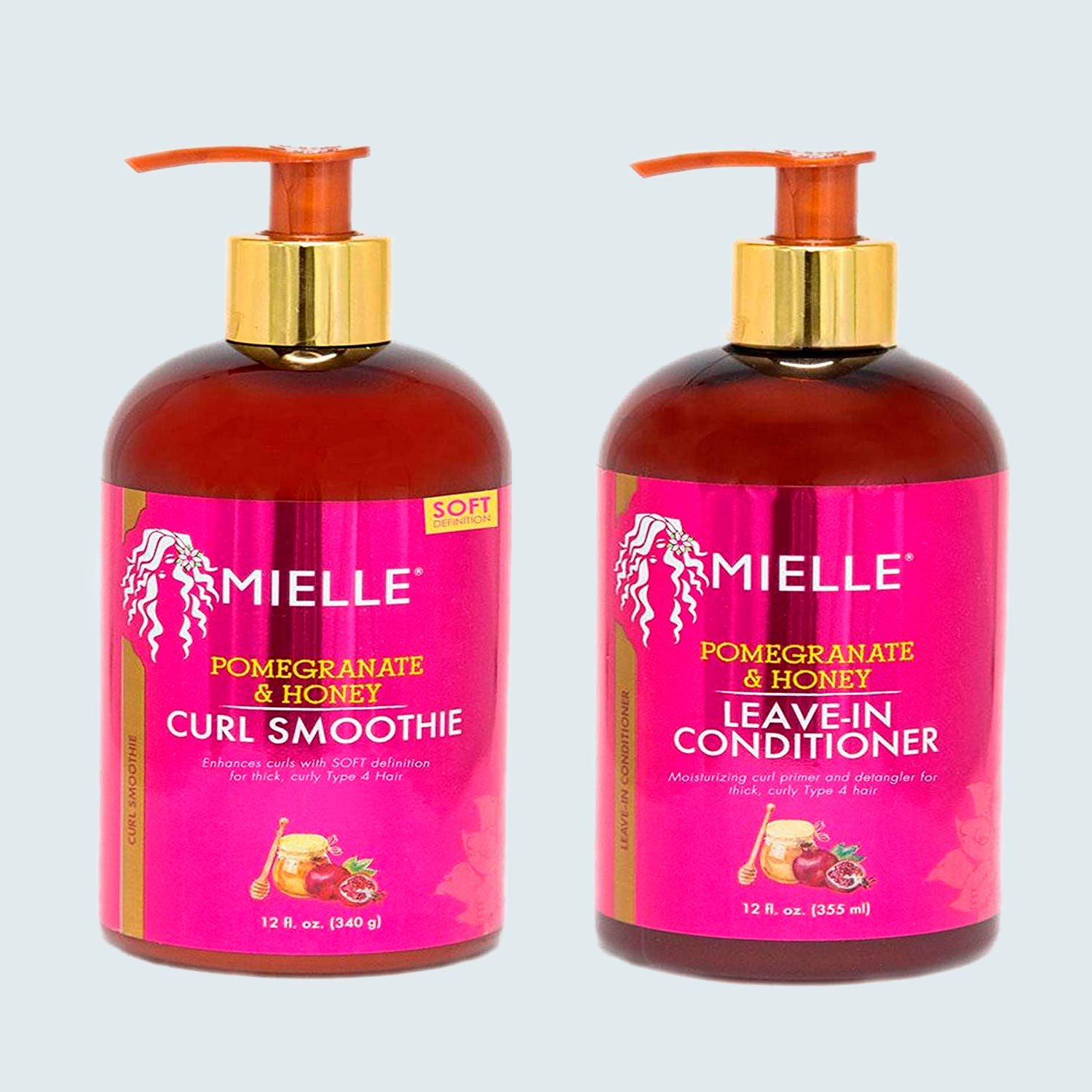 Mielle Pomegranate And Honey Combo Curl Smoothie And Leave In Conditioner