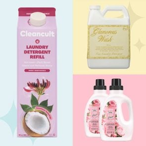Grid of three different nice-smelling laundry detergents