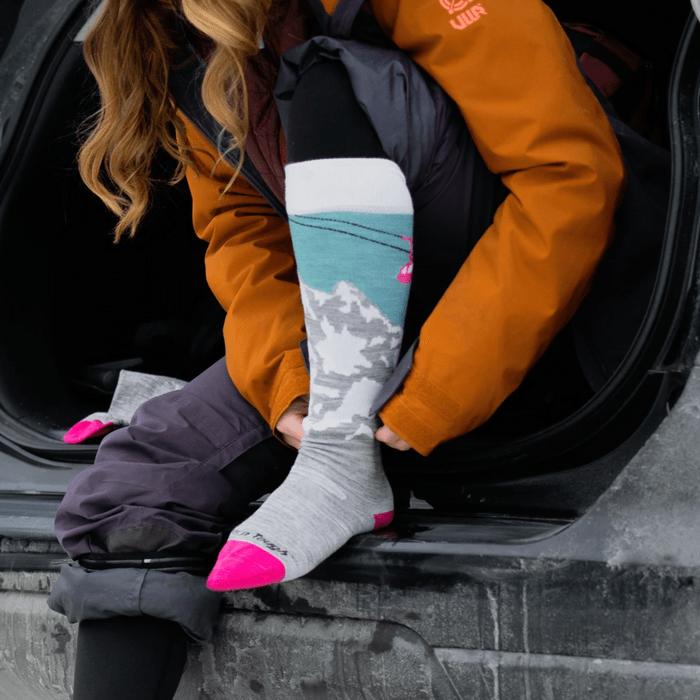wool socks in the winter