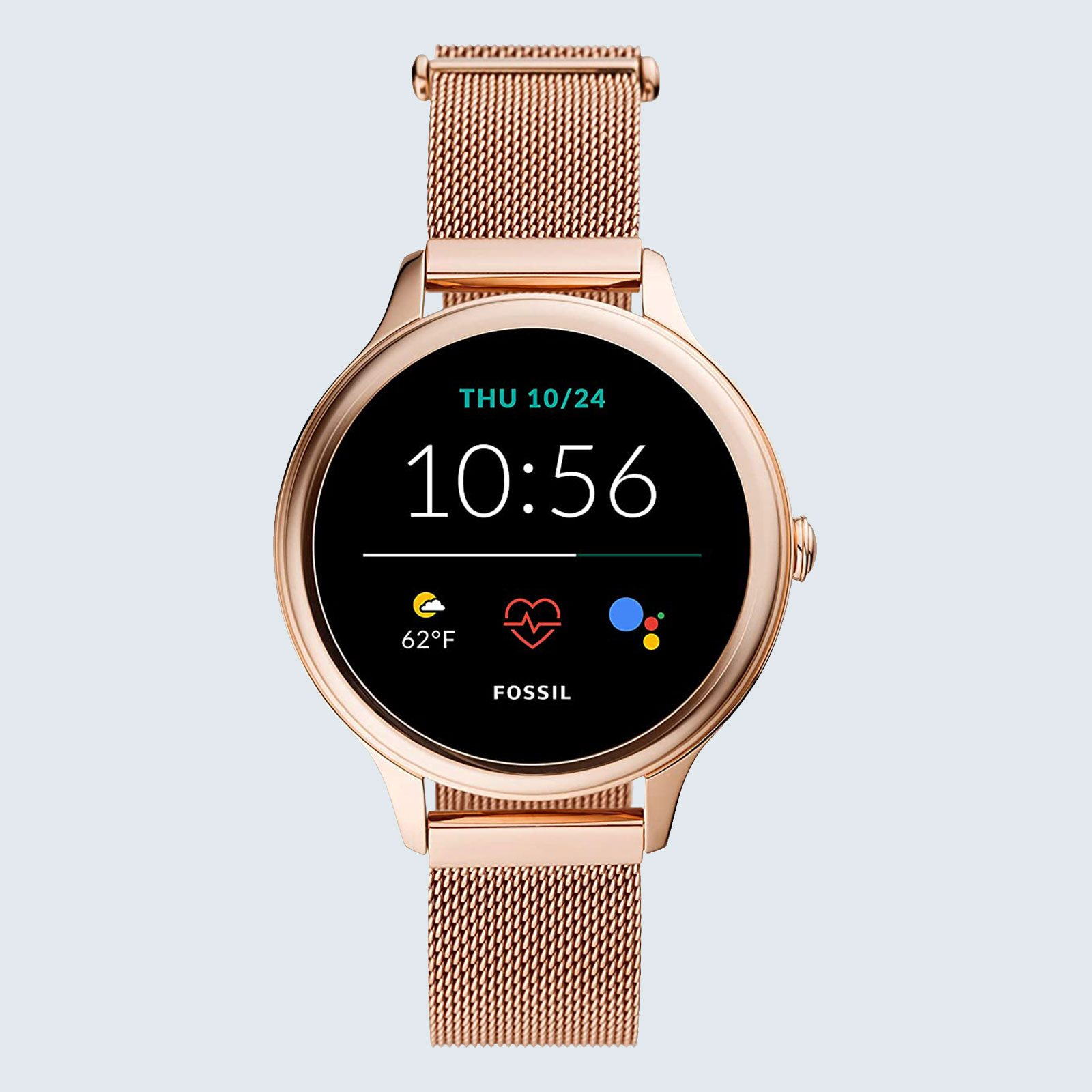 For the step-counter: Fossil Stainless Steel Touchscreen Smartwatch
