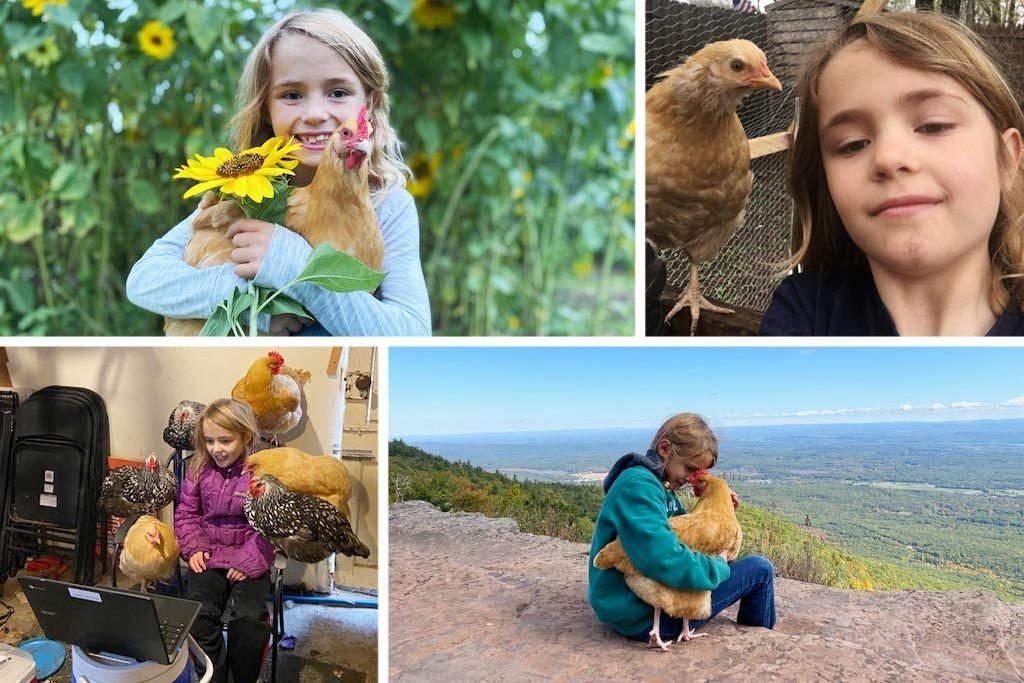 When the World Shut Down, This 9-Year-Old Created an Unlikely Bond with 6 Chickens
