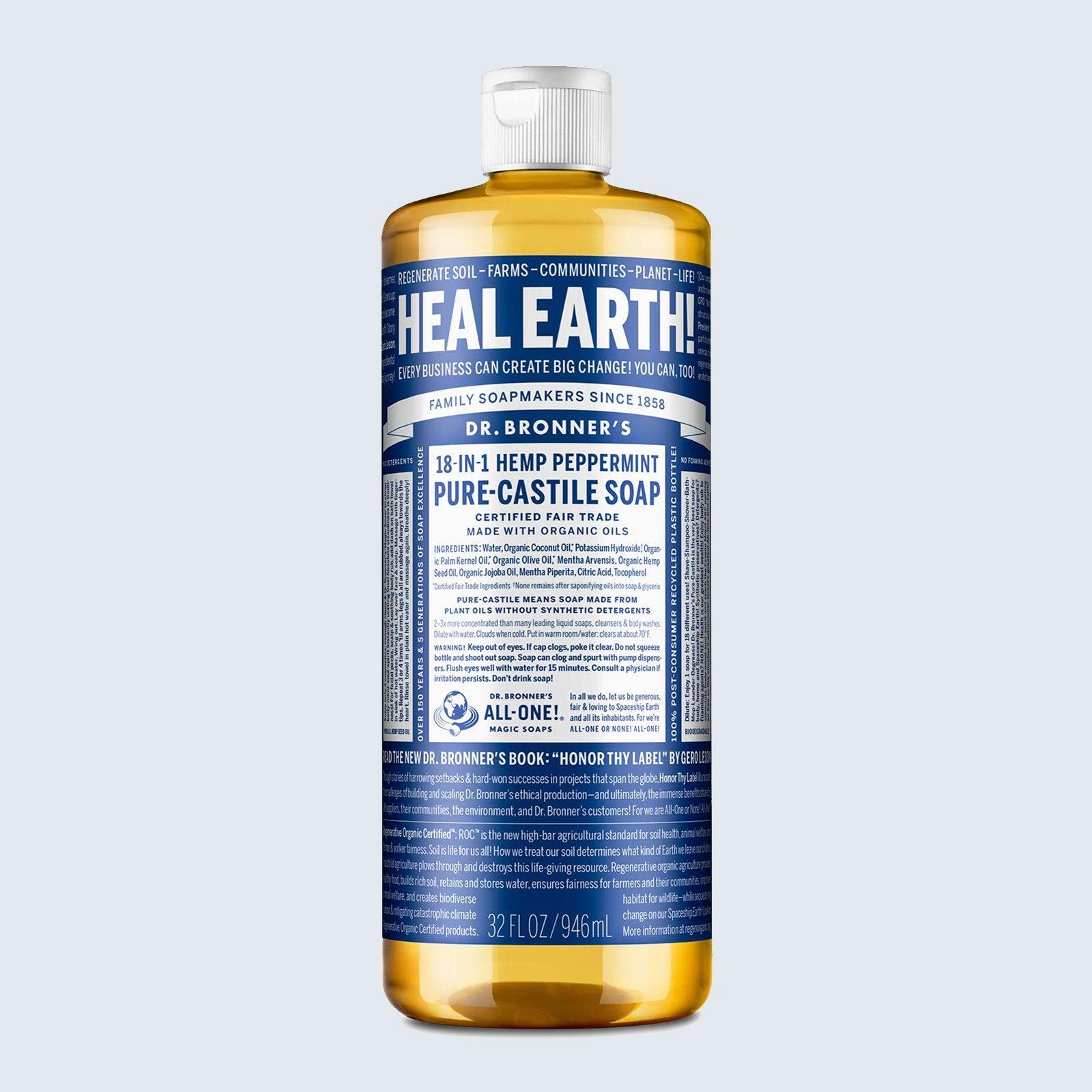 Best liquid soap: Dr. Bronner's Pure Castile Liquid Soap