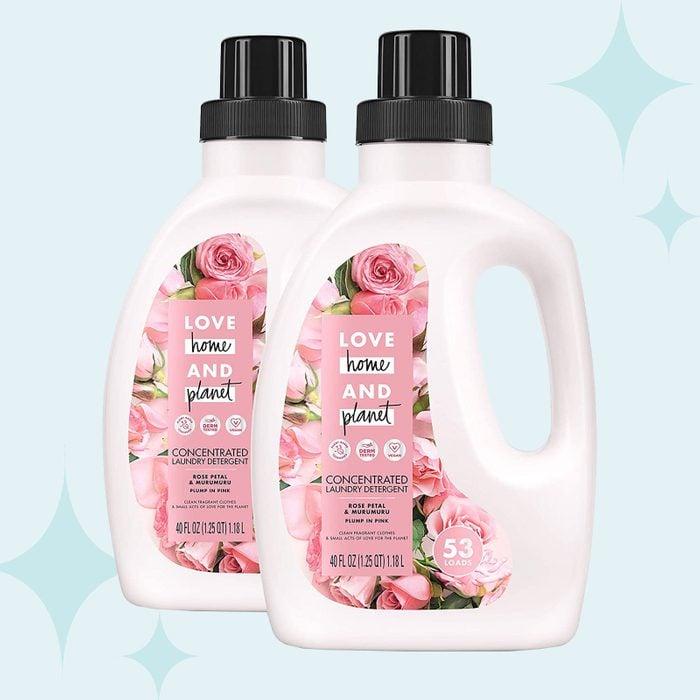 Love Home and Planet Rose Petal and Murumuru Laundry Detergent