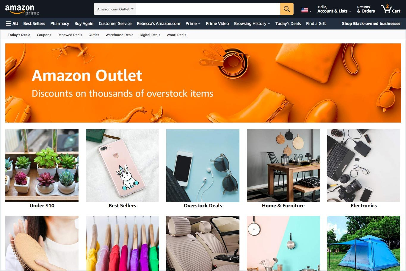 Amazon Outlet Page