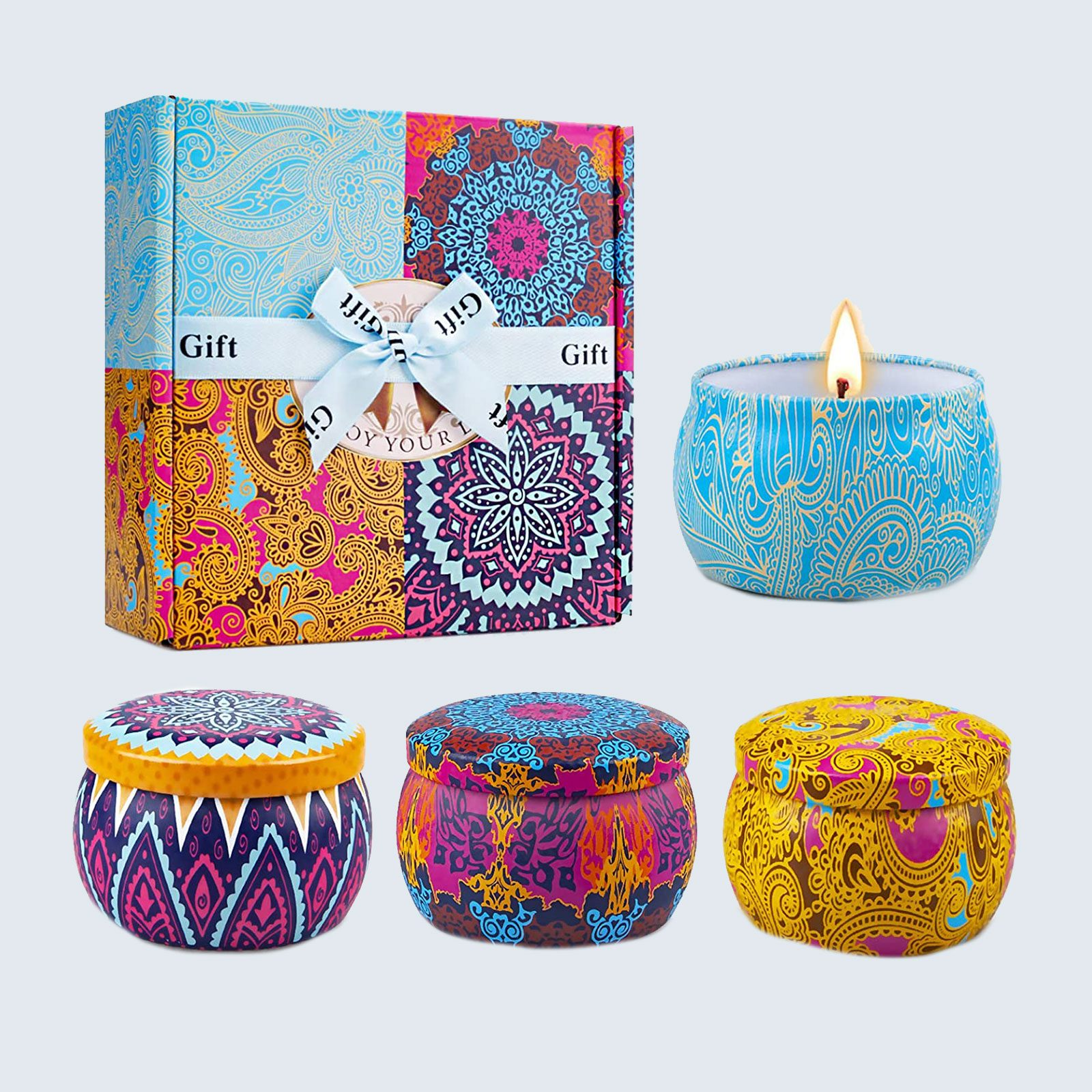 For the zen master: Yinuo Scented Candles Gifts Set