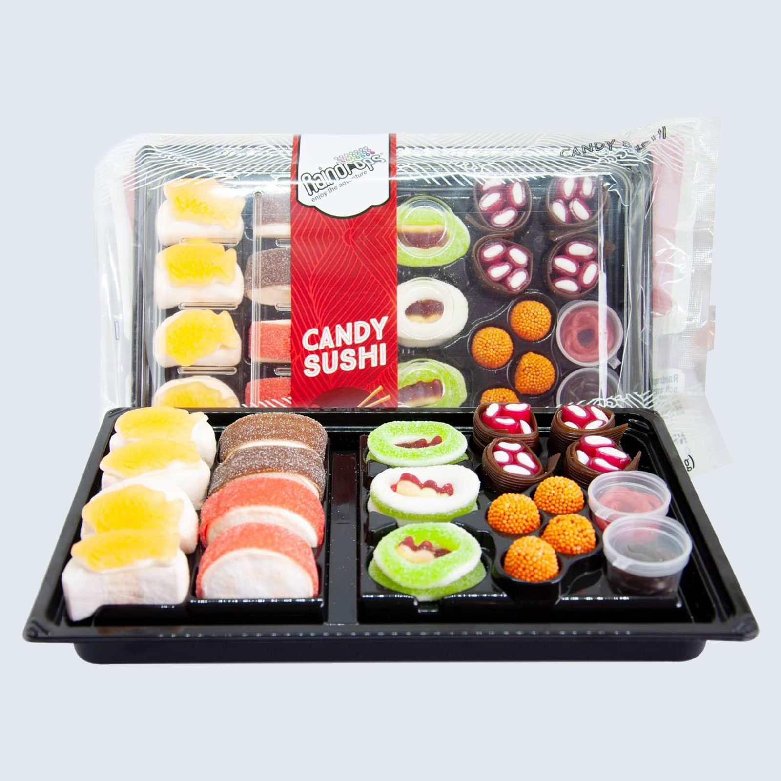 For the kid at heart: Raindrops Gummy Candy Sushi Bento Box