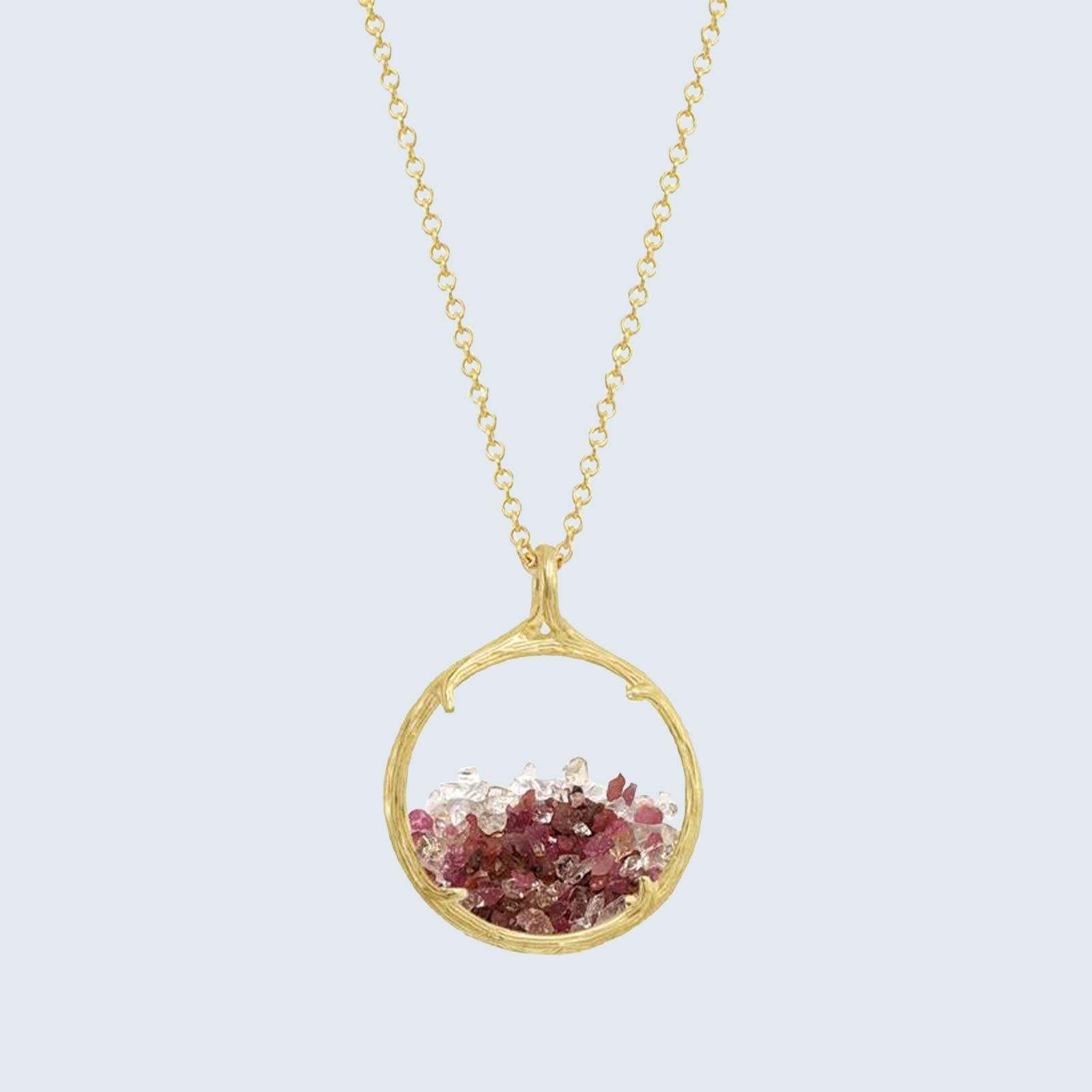 For jewelry addicts: Catherine Weitzman Custom Mixed Shaker Birthstone Necklace