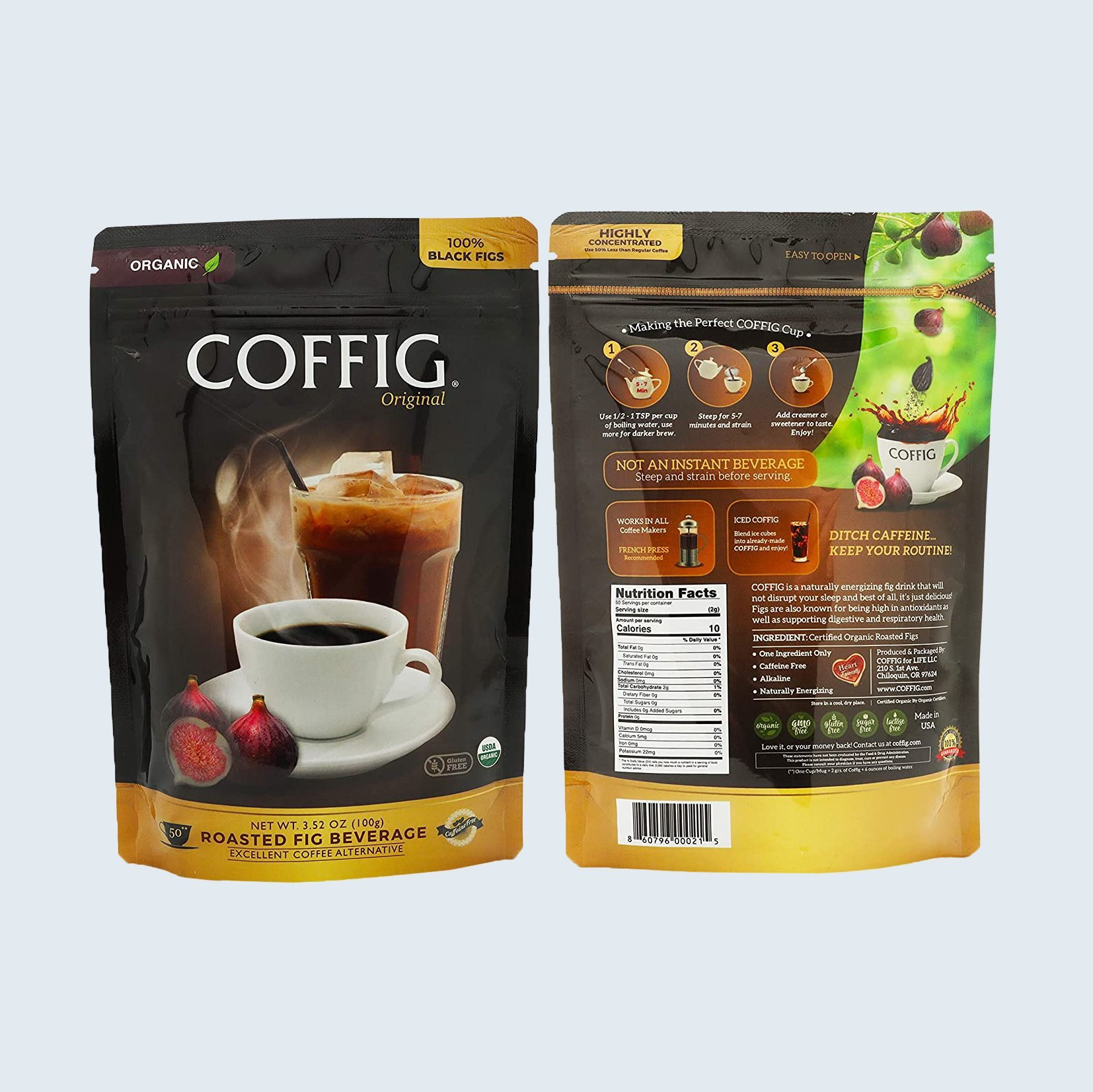Coffig Roasted Fig Beverage, Coffee Substitute