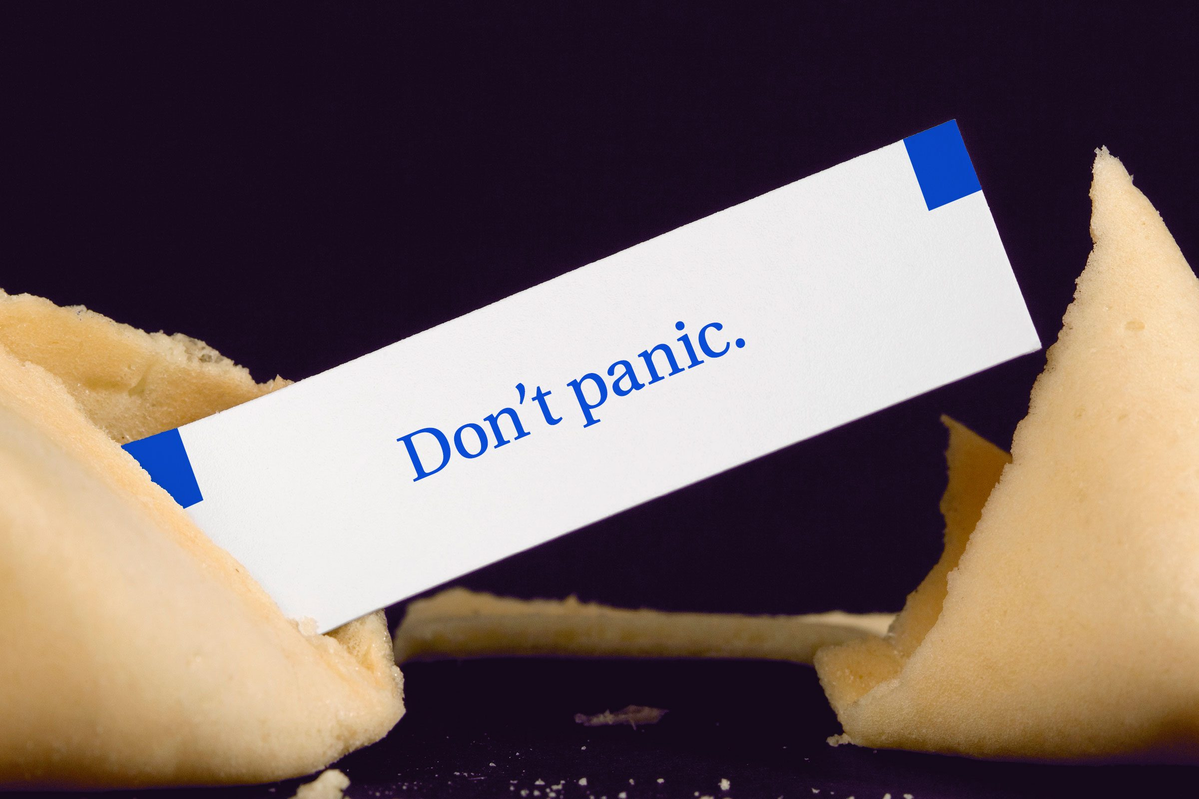 For image: Don't panic.