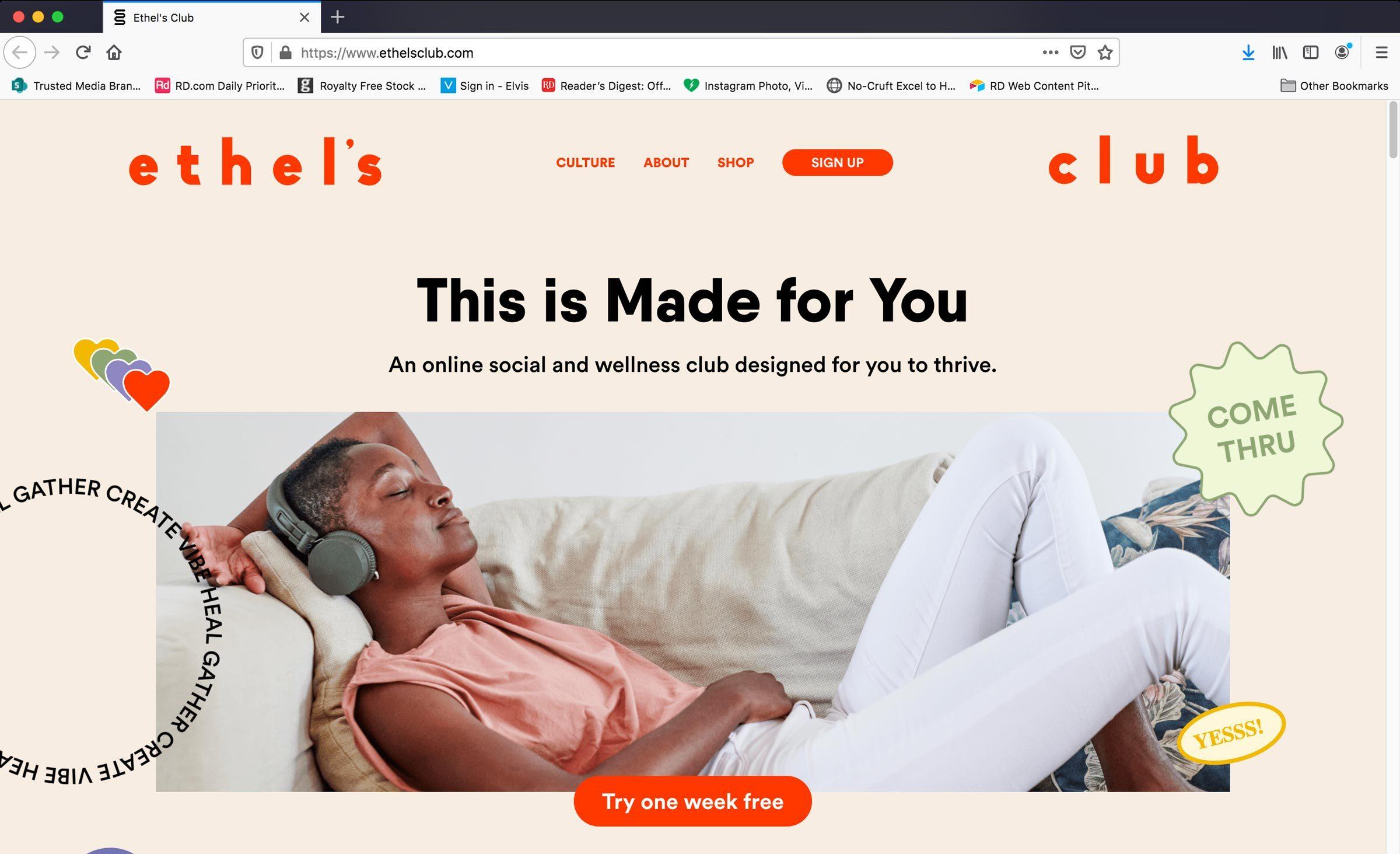 Home Page Of Ethelsclub.com