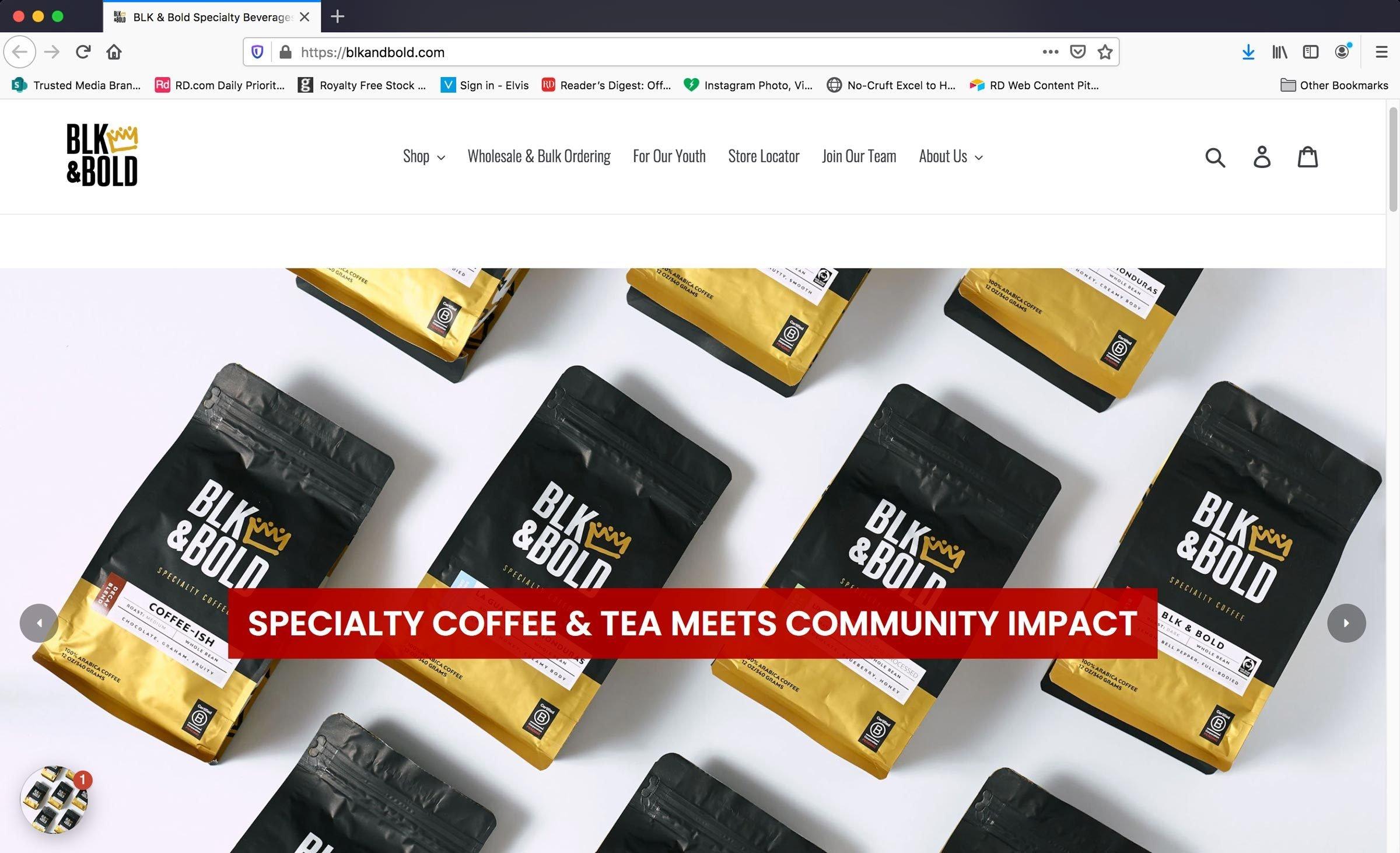 Homepage Of Blkandbold.com