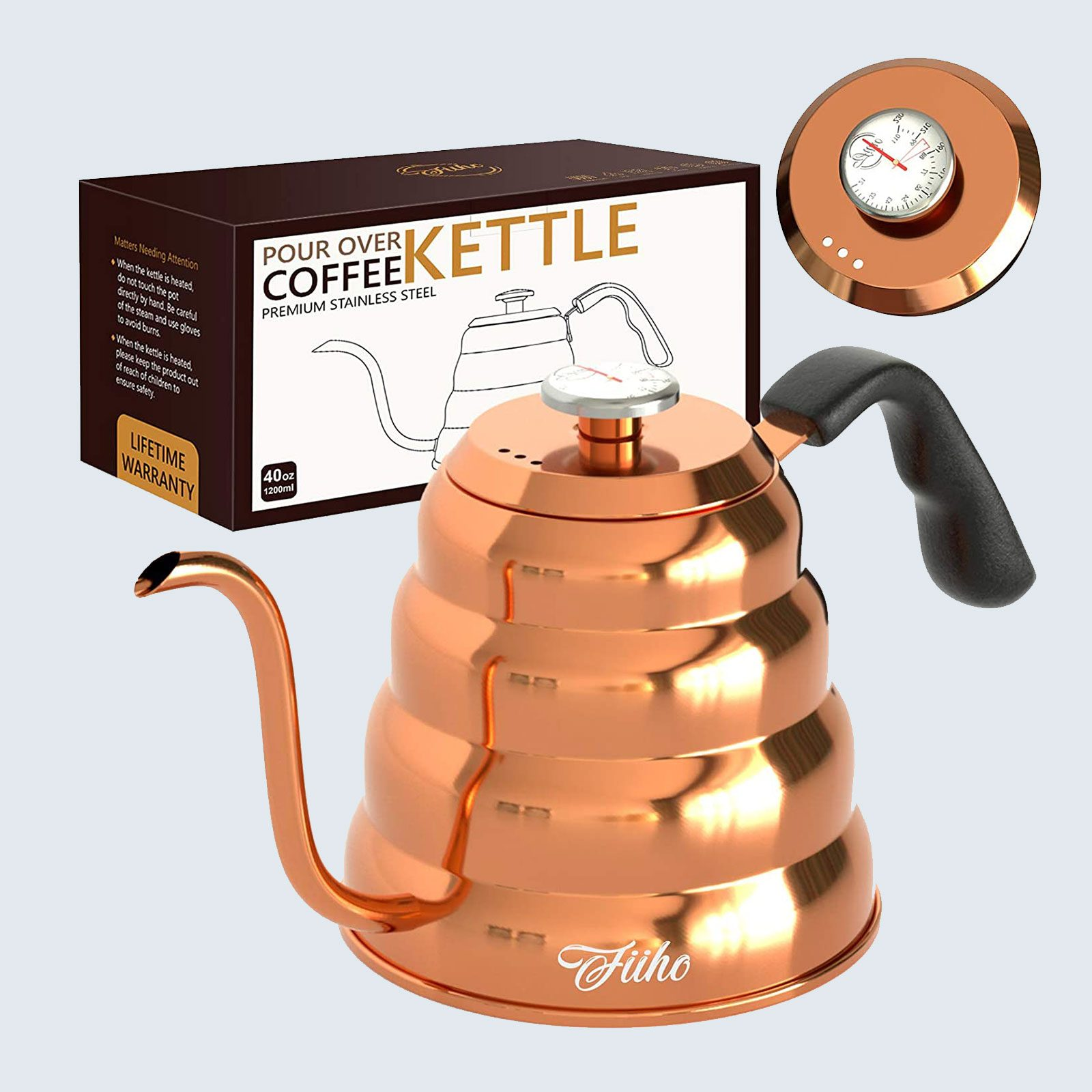 For at-home baristas: FIIHO Gooseneck Coffee Pour Over Kettle