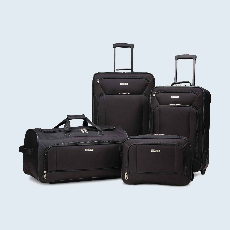 American Tourister Fieldbrook 4-Piece Luggage Set on amazon warehouse