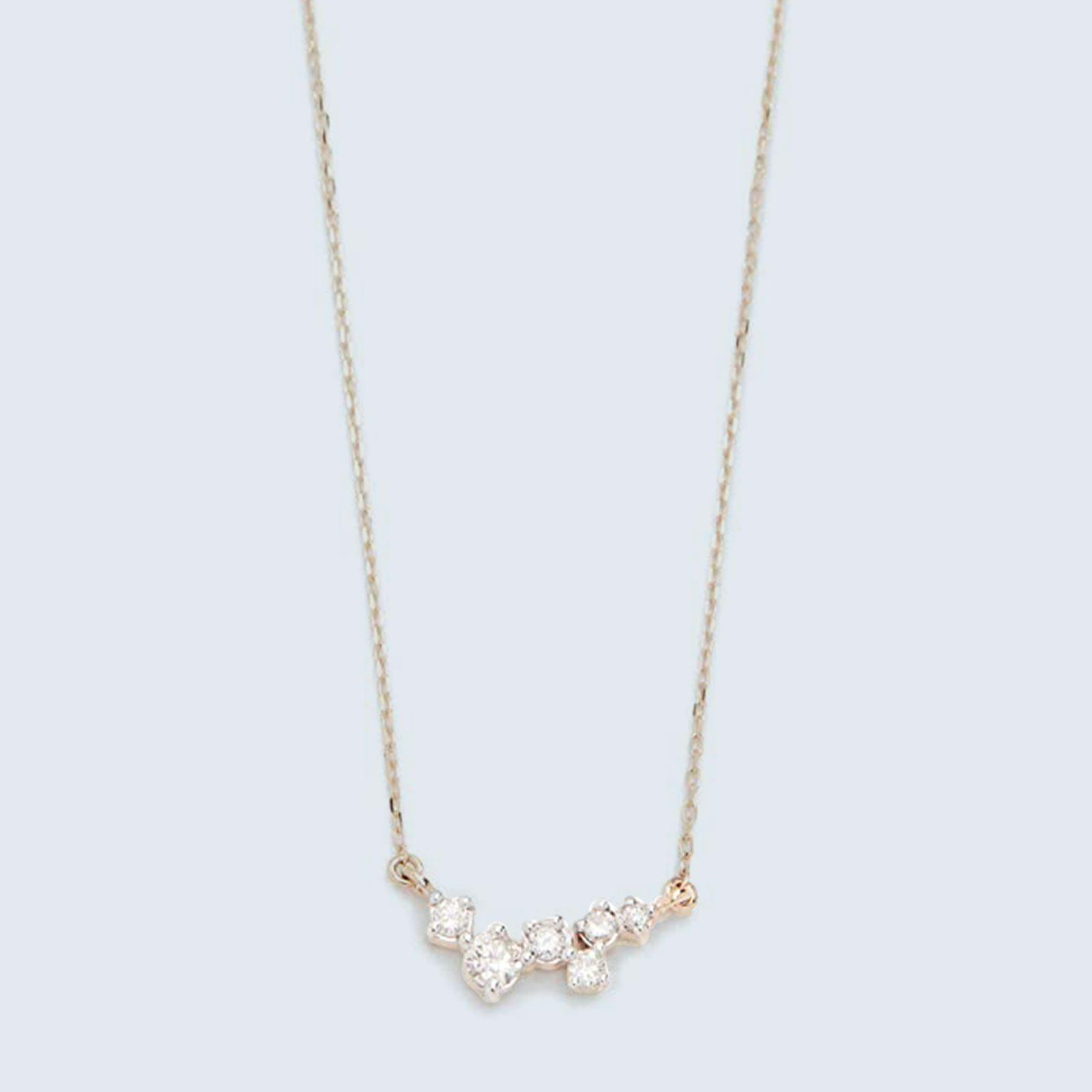 For the diamond devotee: Adina Reyter 14k-Gold Scattered Diamond Necklace