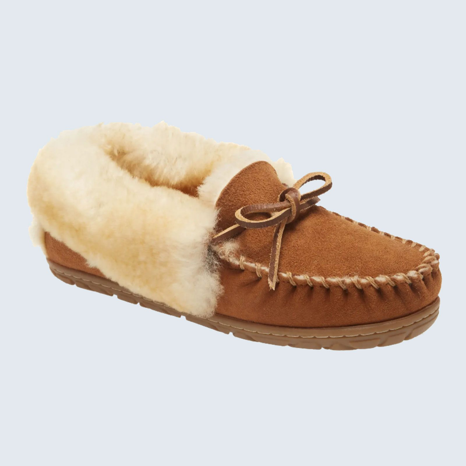 Best shearling slippers: L.L. Bean Wicked Good Genuine Shearling Moccasin Slipper