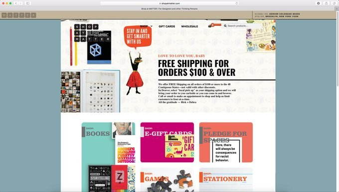 Shopatmatter.com home page