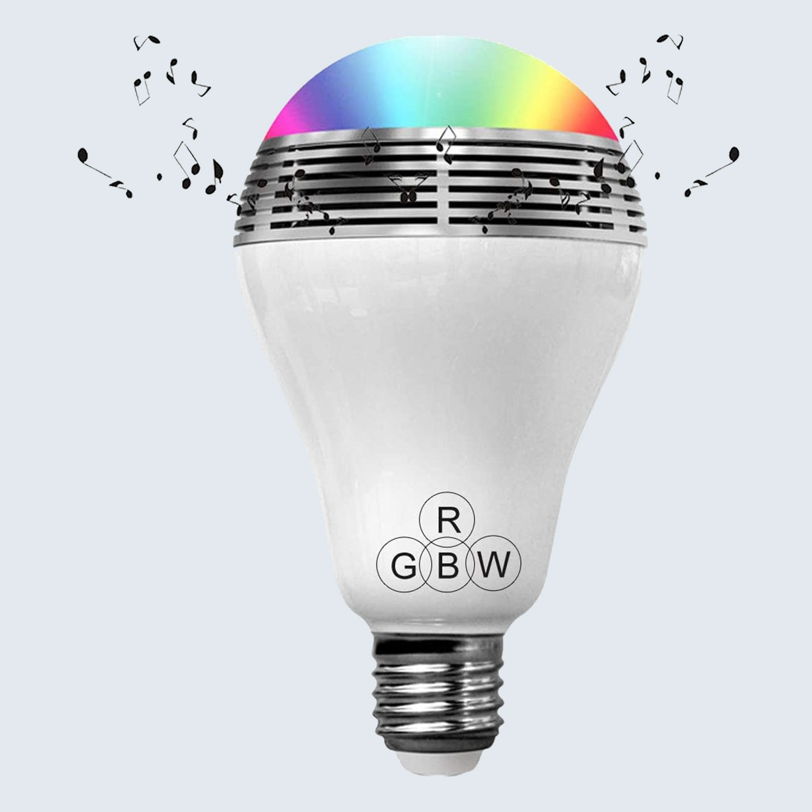 For the gadget lover: Yumingchuang LED Smart Light Bulb with Bluetooth Speaker