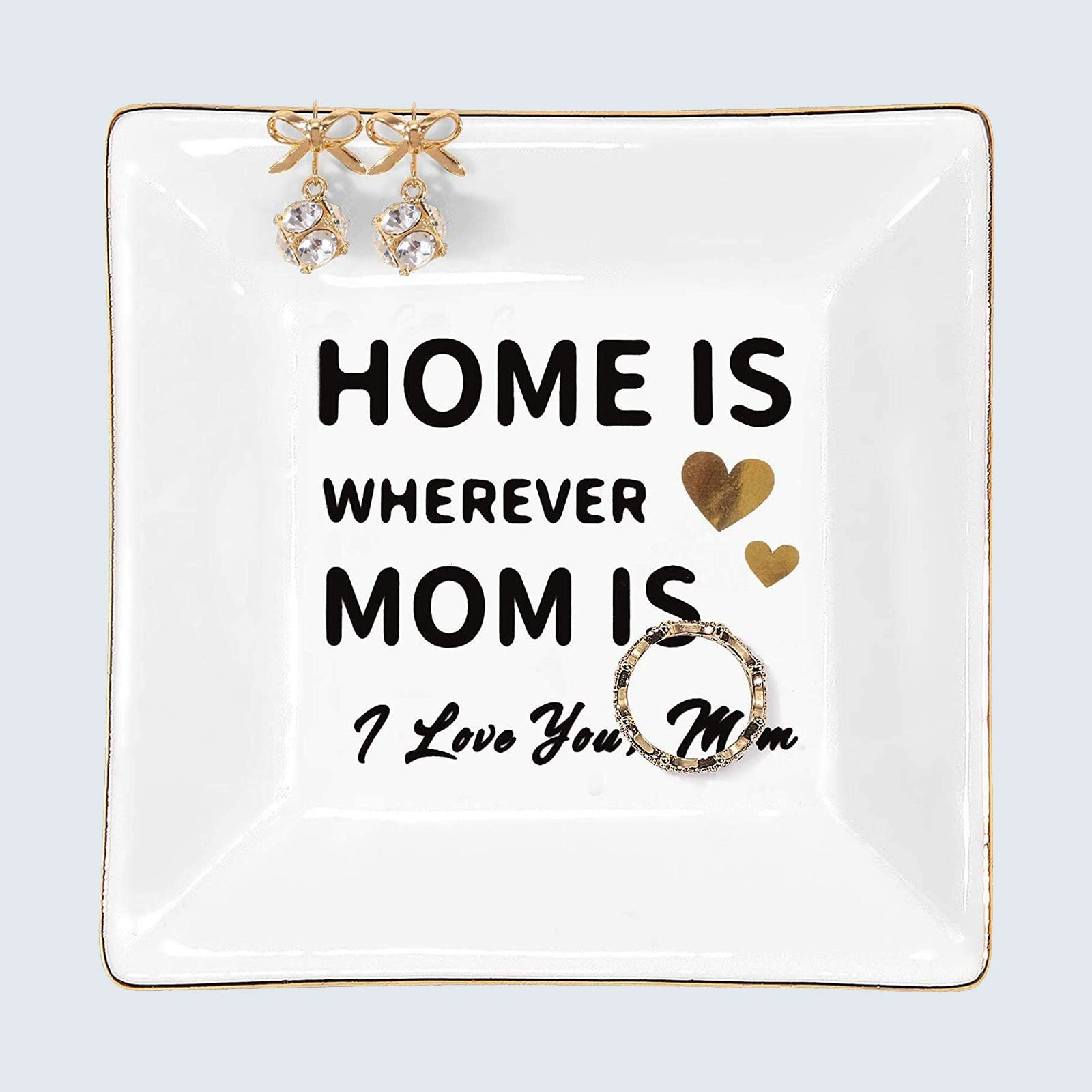 For the mom who loves daily affirmations: Kaidouma Ceramic Jewelry Trinket Tray