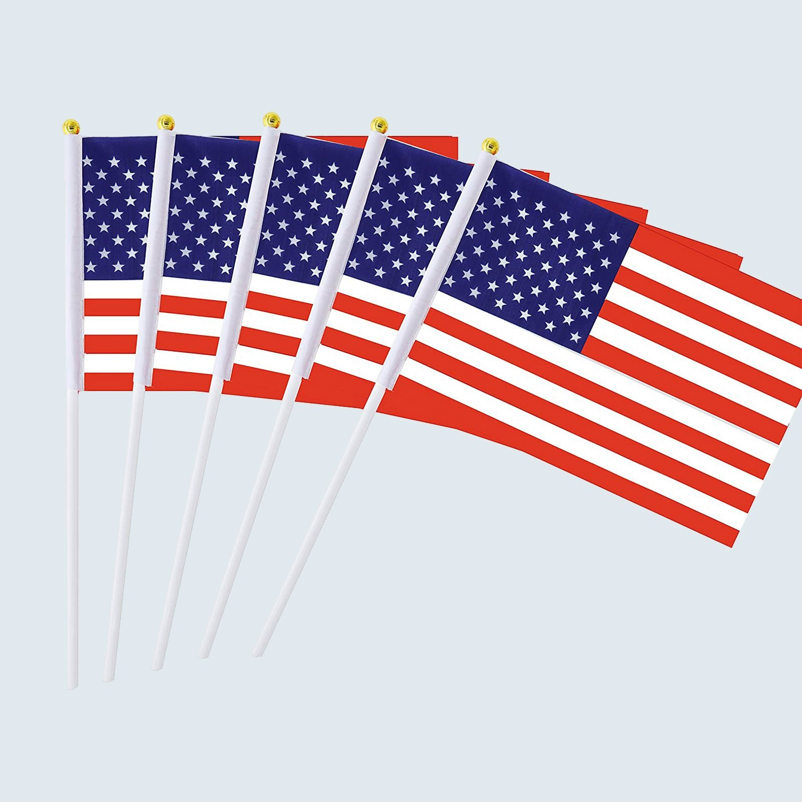 25 Pack Hand Held Small Mini Flags