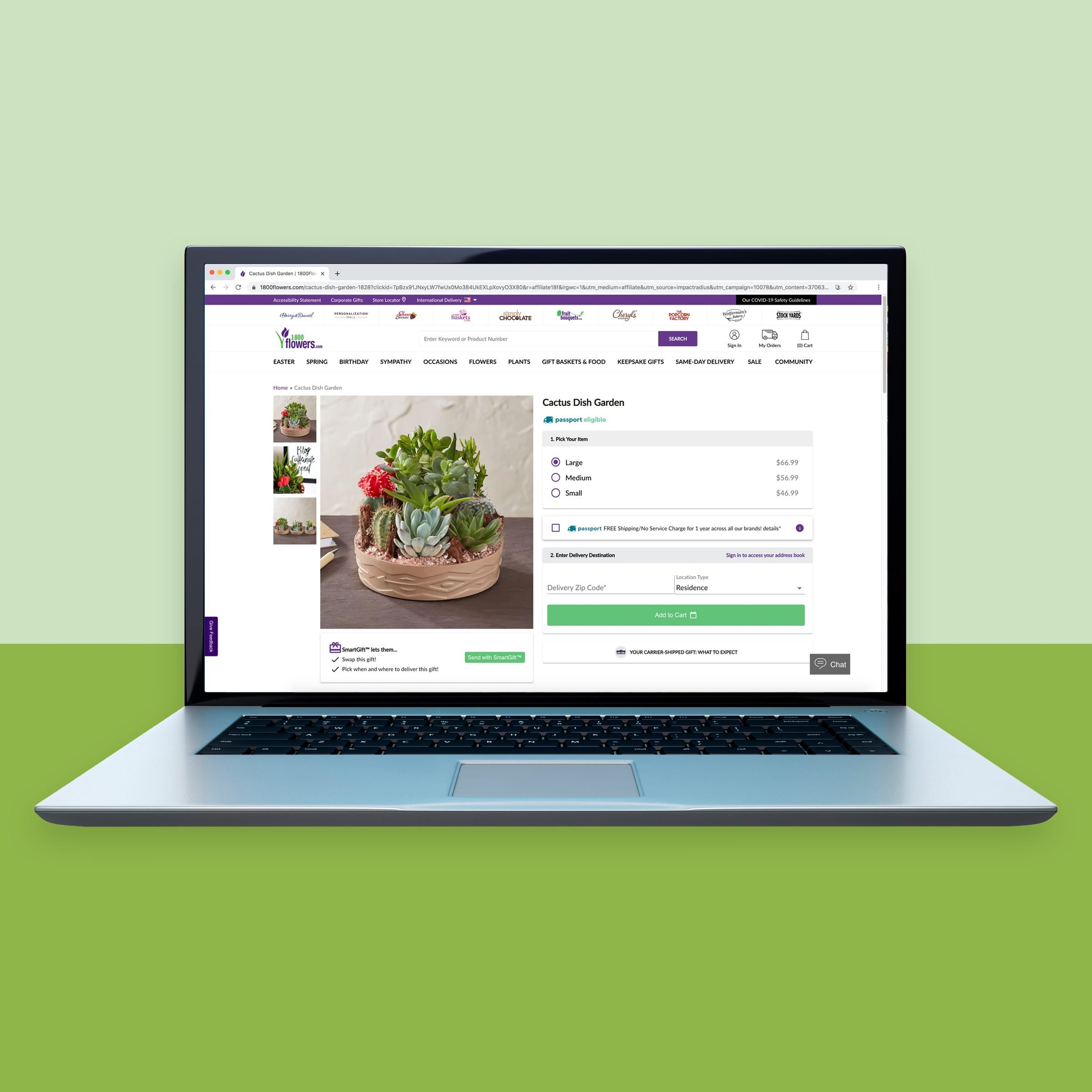 1800flowers.com for online flower shopping