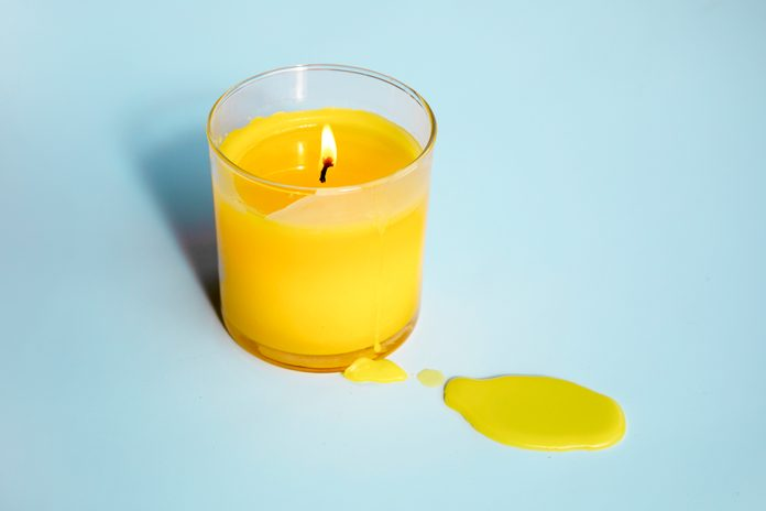 how to remove candle wax stains