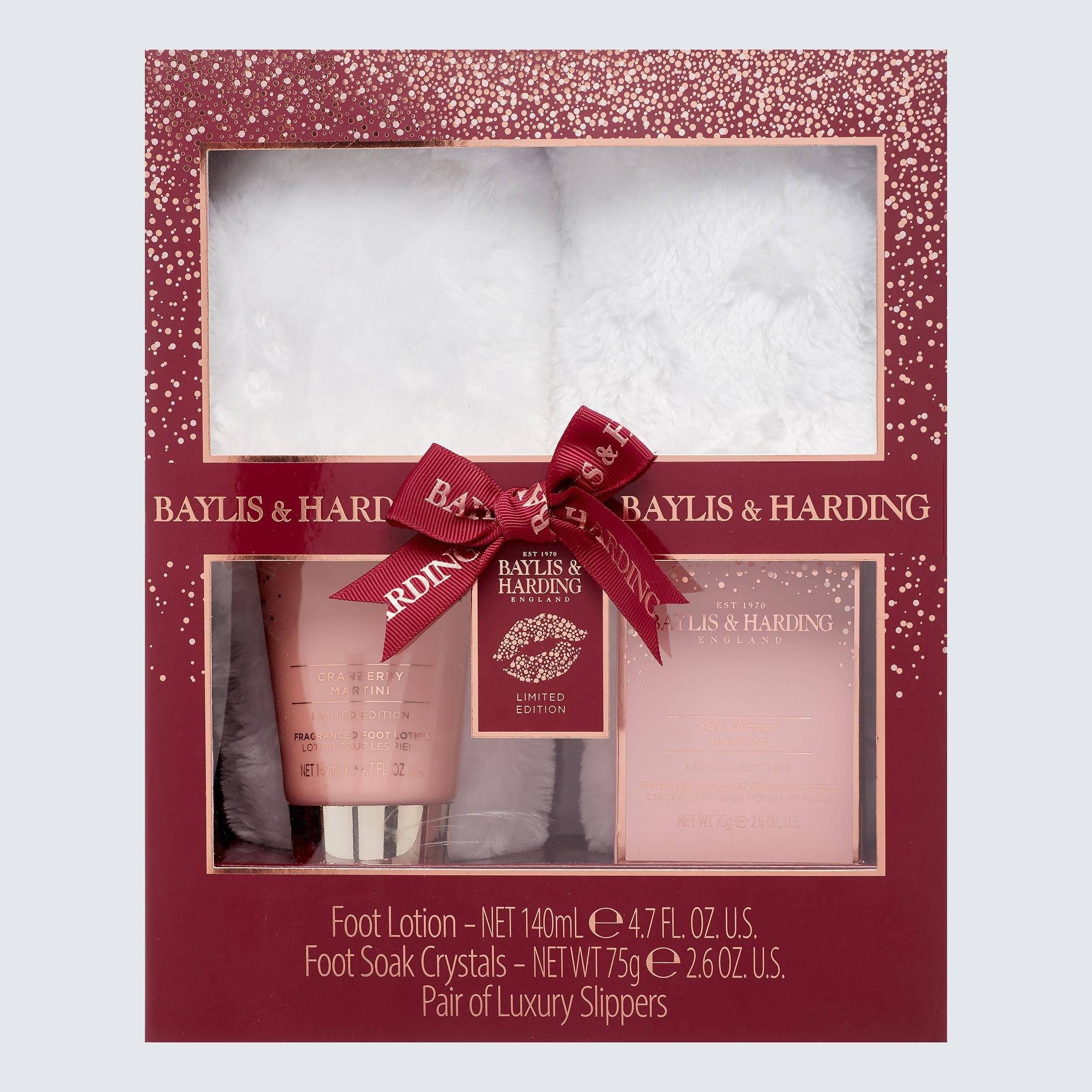 Baylis & Harding Cranberry Martini Slipper Gift Set
