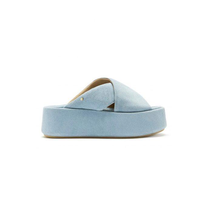 Breanne Blue Suede Platform Sandal