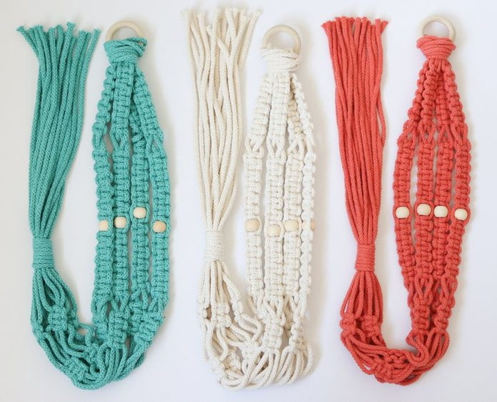 DIY Macrame Planter Kit With Beads for Mom