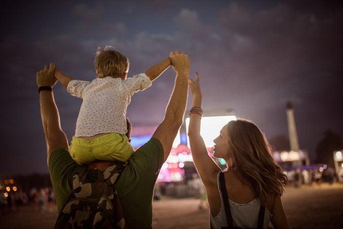 Family on festival