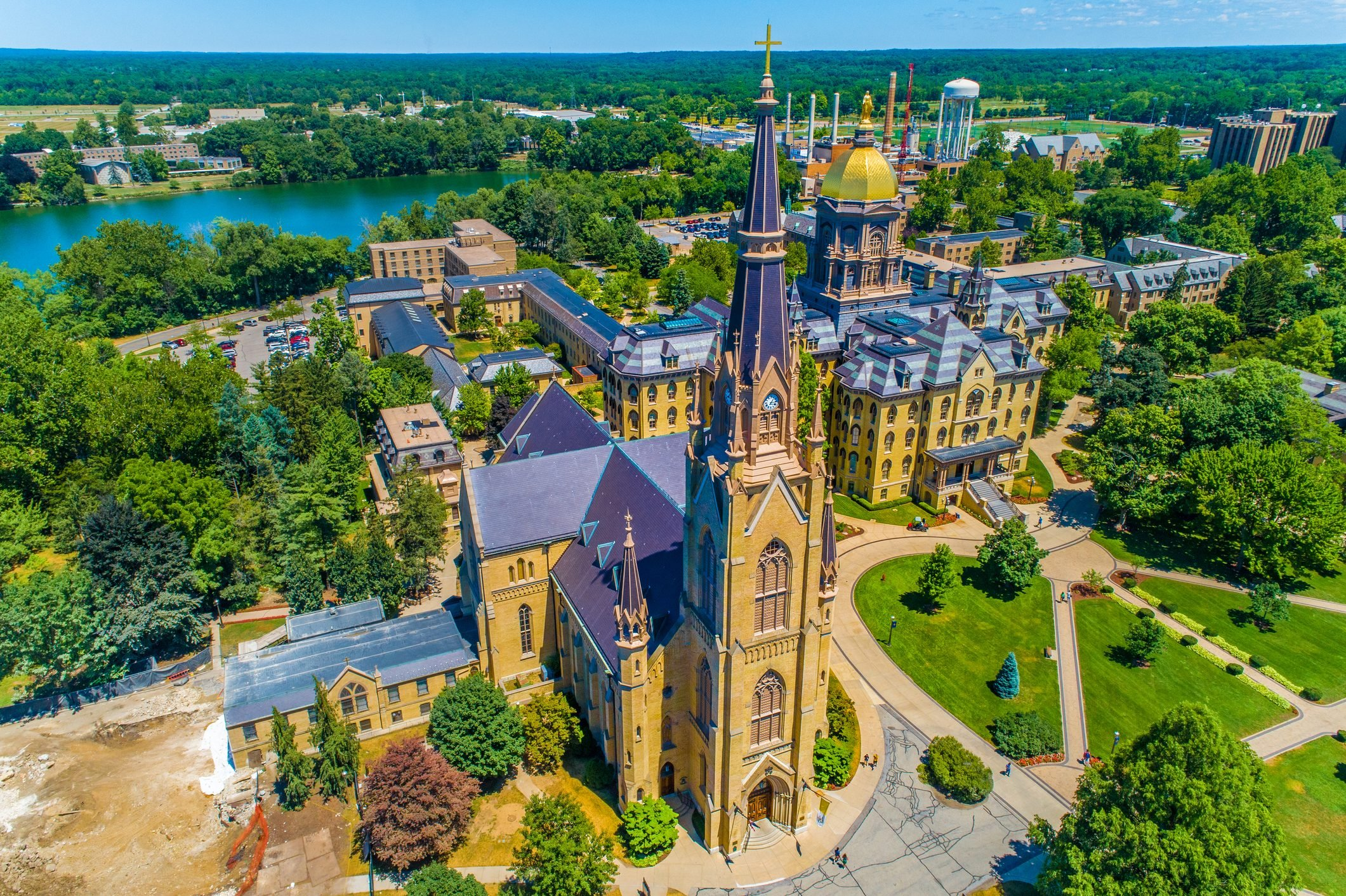 The Basilica of the Sacred Heart on the University of Notre Dame Campus, South Bend, Indiana