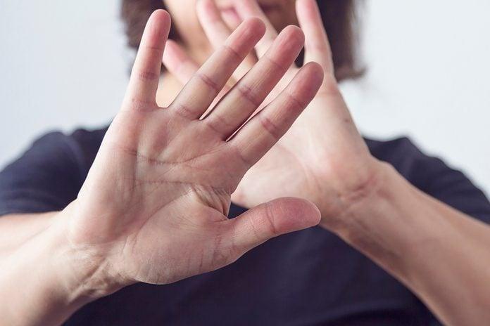 Self defense gesturing